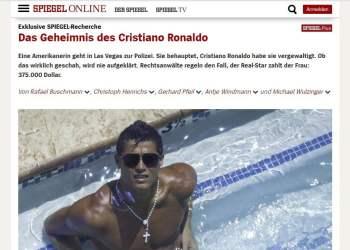 La revista alemana Der Spiegel informó sobre el presunto escándalo sexual de Cristiano Ronaldo