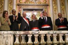 PRESIDENTE KUCZYNSKI JURAMENTÓ A MINISTROS DE TRANSPORTES Y COMUNICACIONES Y DE LA PRODUCCIÓN
