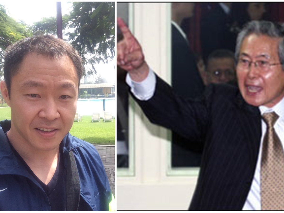 Kenji Fujimori y Alberto Fujimori