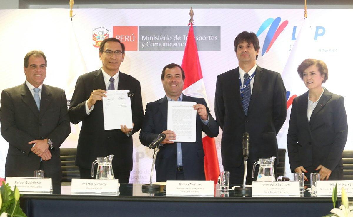 Gobierno y LAP firman adenda para obras de ampliación del aeropuerto Jorge Chávez