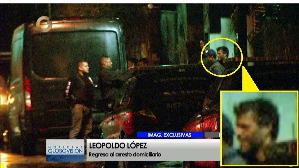 Leopoldo López retorna a su casa