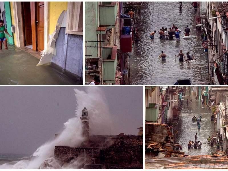 Huracán Irma sobre La Habana