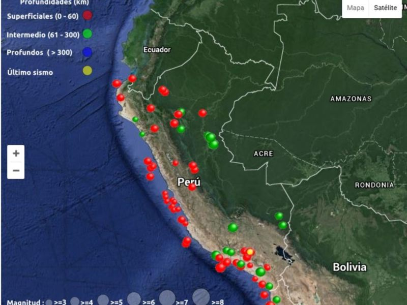 Sismo en el Perú