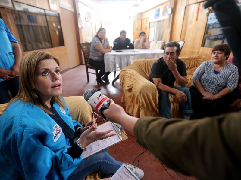 Mercedes Araóz declara en censo