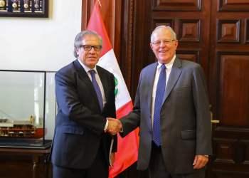 El presidente Kuczynski se reunió con Luis Almagro en Palacio de Gobierno.