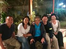 Alberto Fujimori y su familia