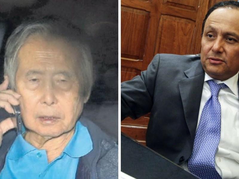 Alberto Fujimori y Walter Gutiérrez