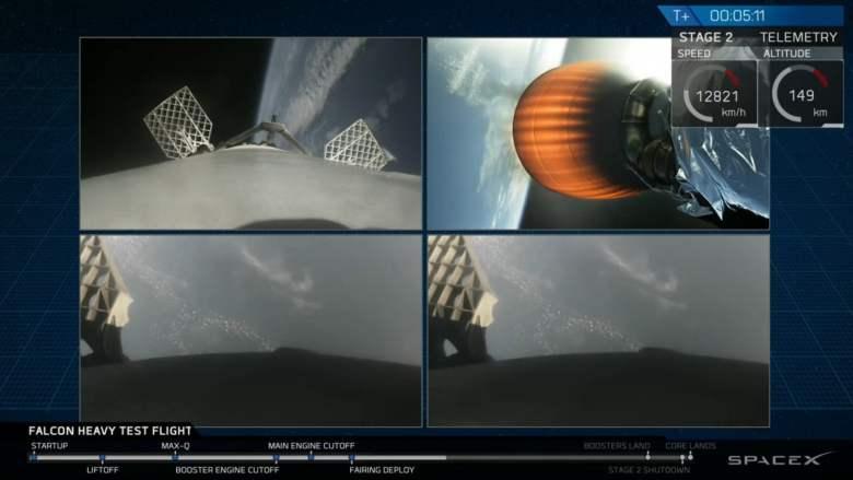 La compañía de Elon Musk prueba con éxito el Falcon Heavy, con capacidad para poner en órbita 64 toneladas de carga