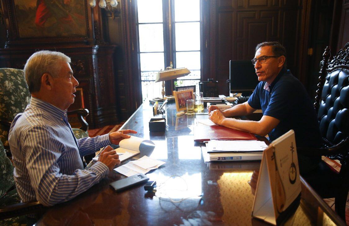 Presidente Vizcarra confirmó a César Villanueva como premier