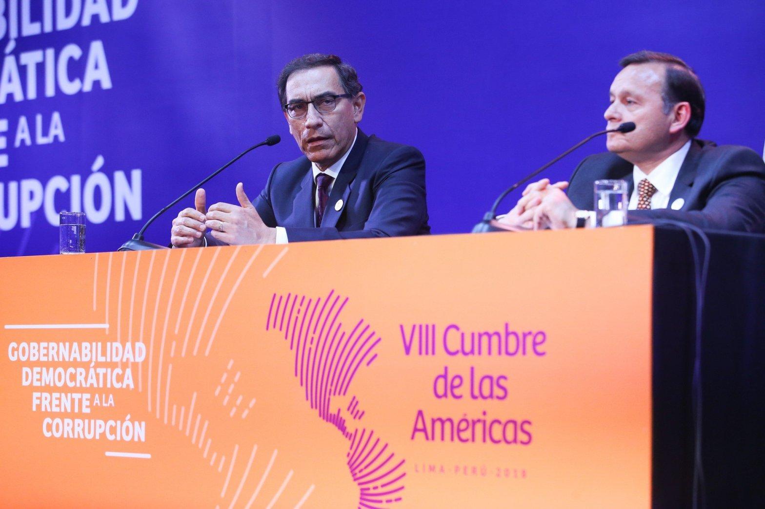 Conferencia de prensa: Presidente Vizcarra habló de la Cumbre, Siria y Venezuela