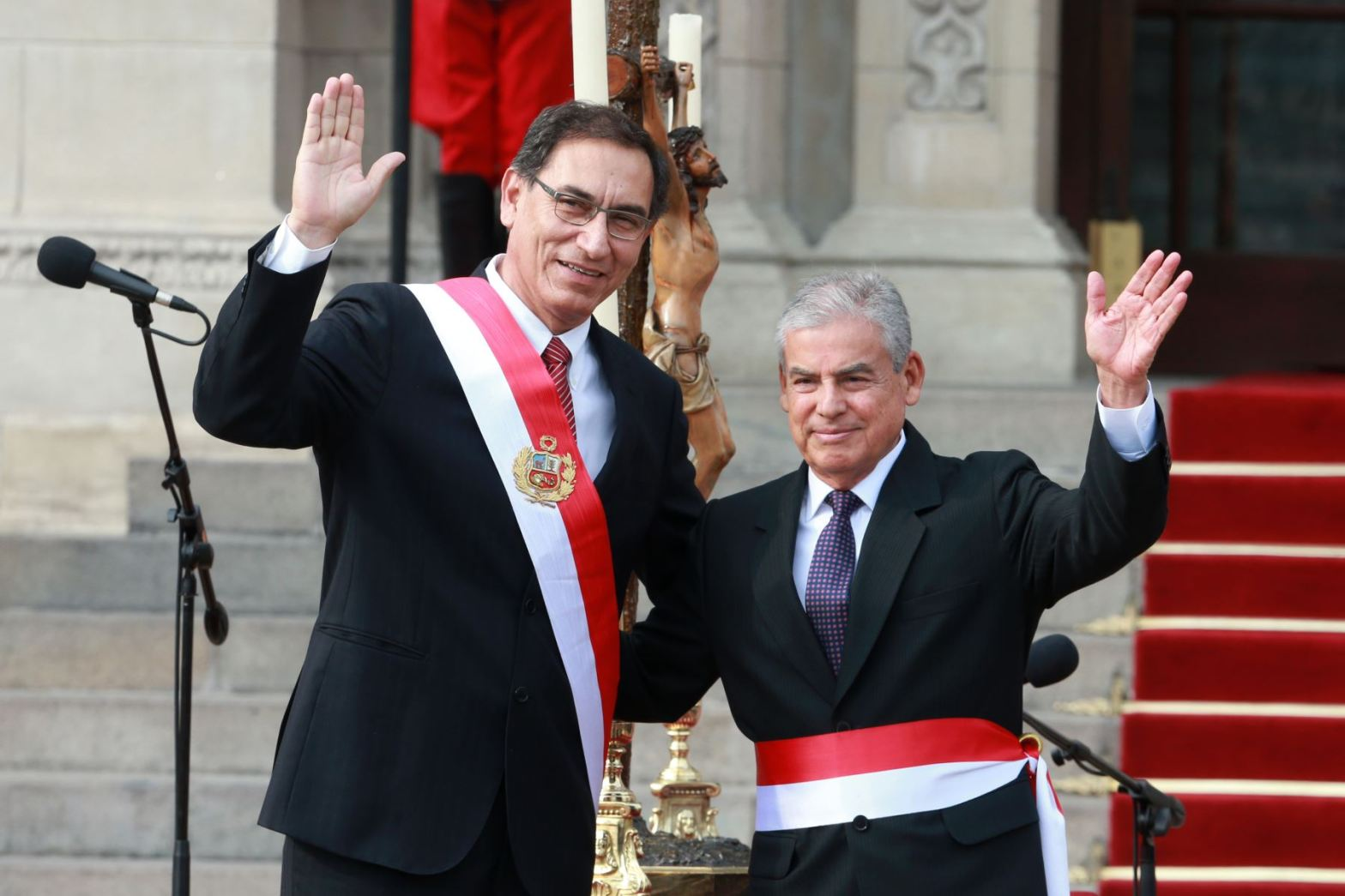Martín Vizcarra y César Villanueva