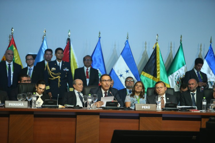 El presidente Vizcarra inauguró la Cumbre de las Américas.