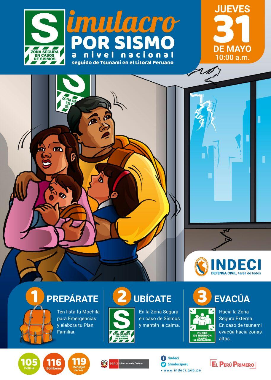 El 31 de mayo habrá simulacro de sismo a nivel nacional