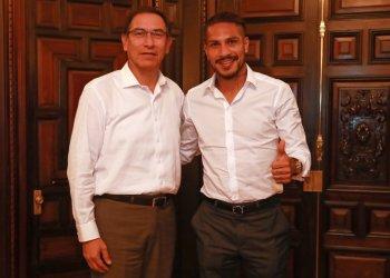 El presidente Vizcarra respaldo a Paolo Guerrero.