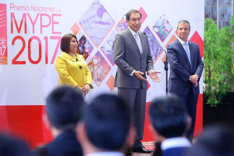 El presidente Vizcarra reiteró el apoyo a las mypes del Perú.