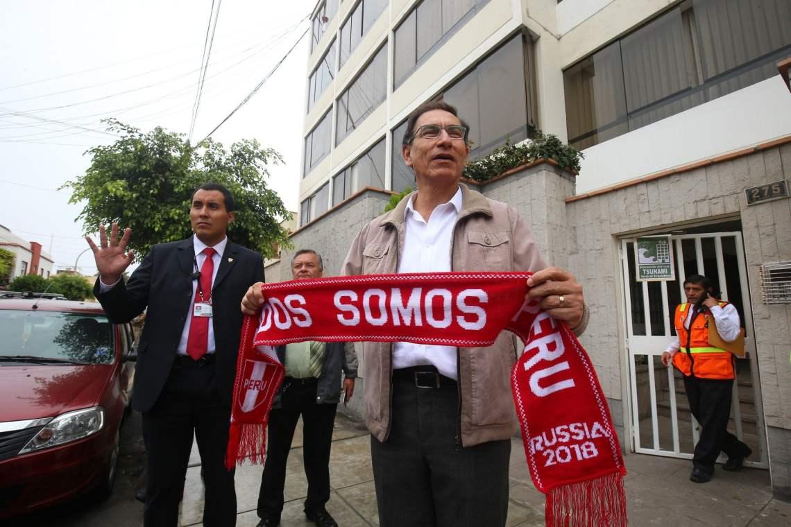 El presidente Vizcarra participó en el Simulacro Nacional de Sismo y Tsunami.