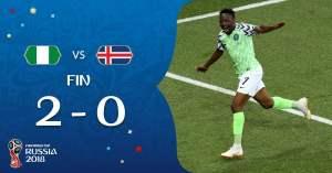 Nigeria venció a Islandia y se metió en la pelea por avanzar en Rusia 2018