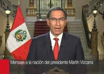 El presidente Vizcarra ofreció un mensaje a la nación.