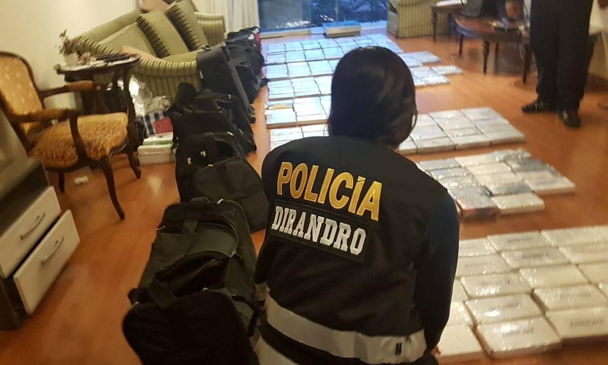 Policía decomisa más de 270 kilos de cocaína en megaoperativo en Lima