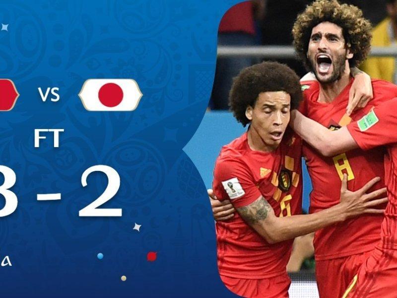 Bélgica le volteó el partido a Japón y avanza a Cuartos de Final