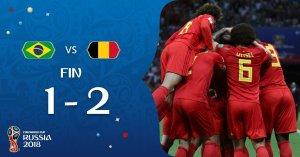 Brasil eliminado por Bélgica en Rusia 2018 y la Copa del Mundo se queda en Europa