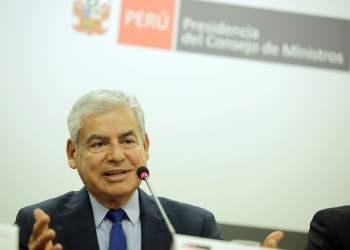 """El premier Villanueva aseguró que la """"Ley Mulder"""" coloca como gran perdedor a la población"""