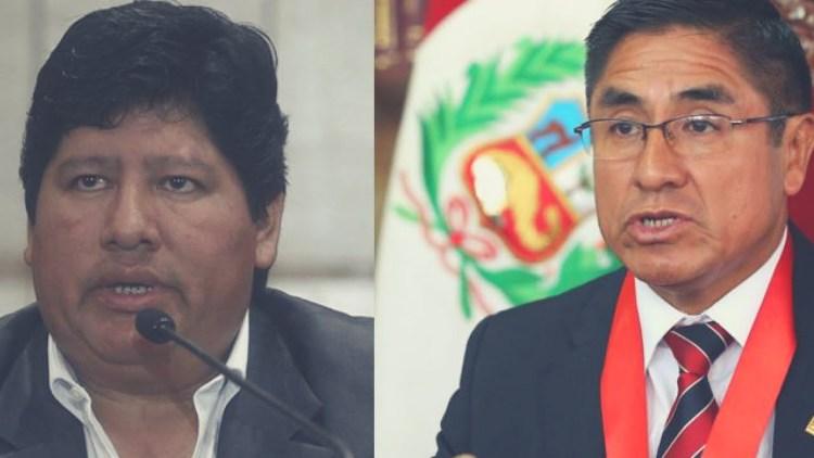 César Hinostroza y Edwin Oviedo