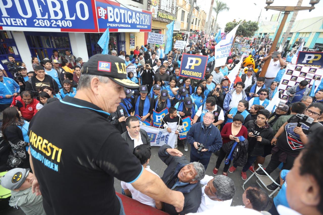 Daniel Urresti en campaña