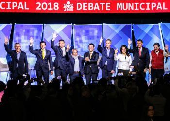 Debate Municipal 2018 y sus participantes