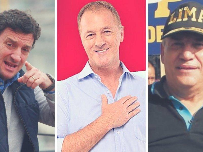 Renzo Reggiardo, Daniel Urresti y Jorge Muñoz