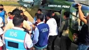 Minsa trasladó a gestante en estado crítico en zona alejada de Loreto