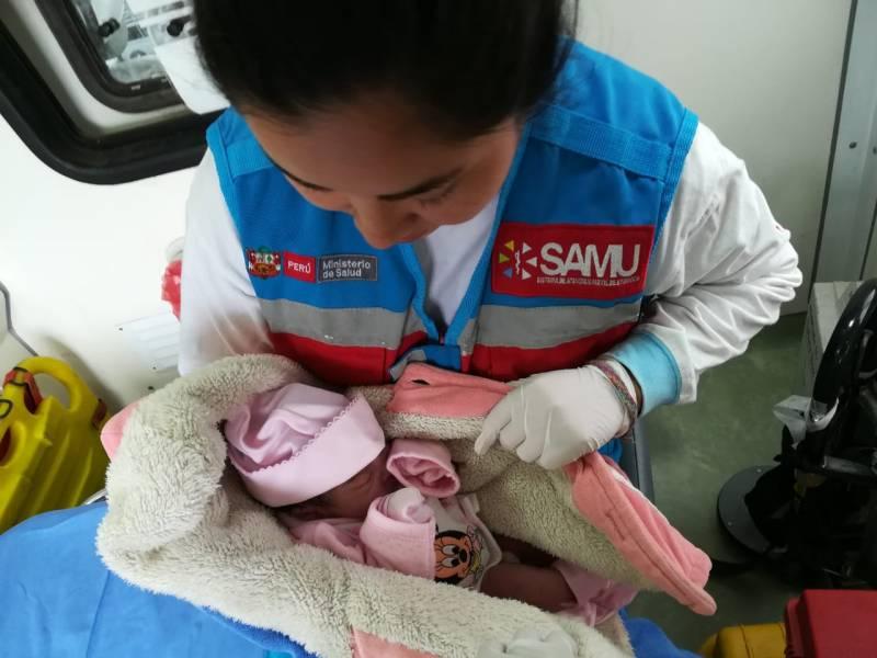 SAMU atendió 21 partos domiciliarios exitosos en lo que va del 2018