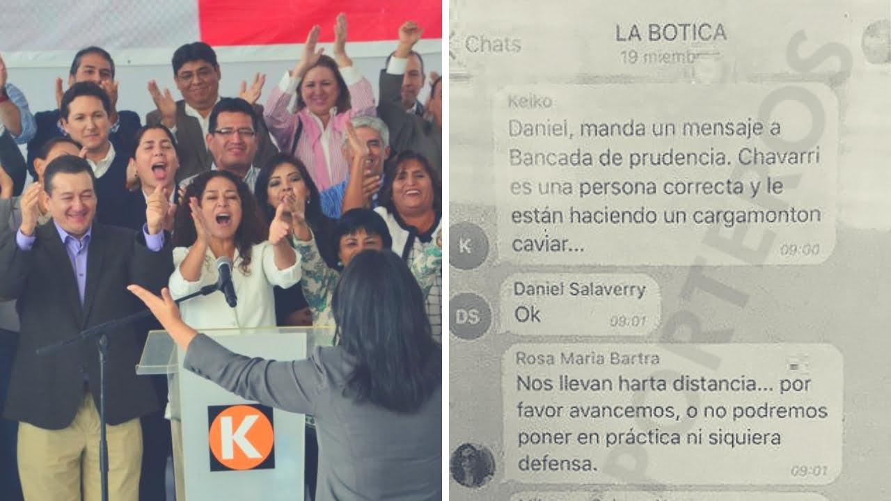 Karina Beteta admite que chat
