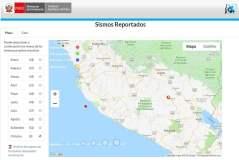 Sismos reportados en Espinar Cusco