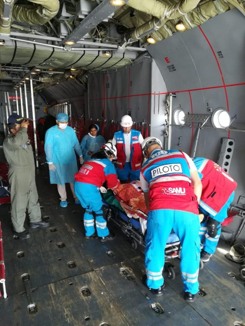 SAMU trasladó por vía aérea a pacientes graves por quemaduras desde Tumbes