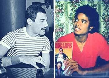 Michael Jackson y Freddie Mercury (Facebook)