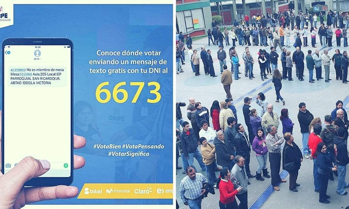 Referéndum | Mira dónde votar hoy por mensaje de texto gratuito a ONPE
