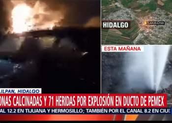 México: 20 personas mueren por explosión de ducto tras robo de combustible