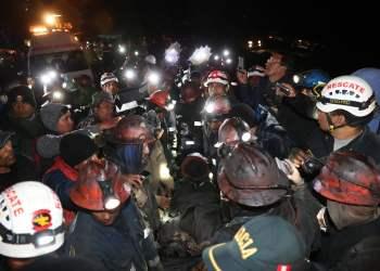 Así fue el rescate con vida de cuatro mineros atrapados en Oyón