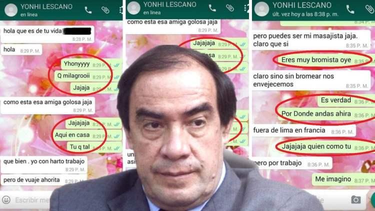 Yonhy Lescano difunde nuevos chats con periodista que lo denunció por acoso