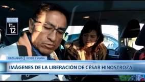 """Así salió en libertad César Hinostroza y dijo: """"Creo en la justicia divina"""""""