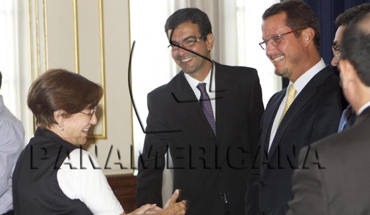 Susana Villarán junto a Jorge Barata