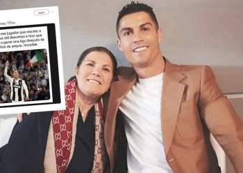 Cristiano Ronaldo y su madre