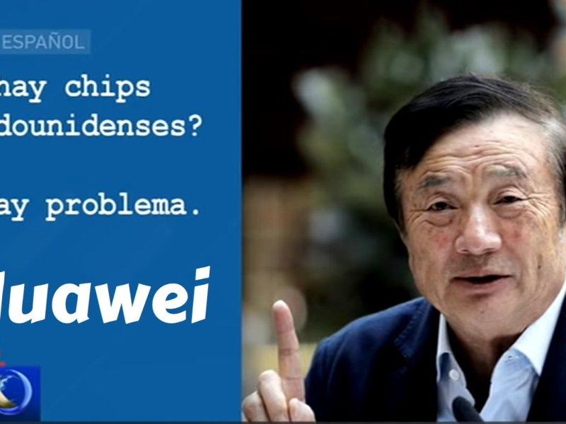 Huawei dice que no necesita chips de los Estados Unidos e insistirán con 5G