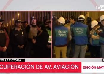 Desalojan ambulantes e informales de 13 cuadras de la avenida Aviación