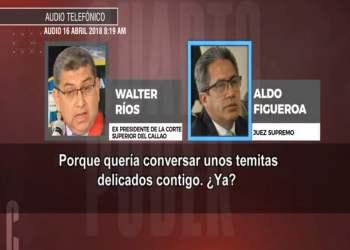 Juez que verá casación de Keiko Fujimori tiene audio con Walter Ríos
