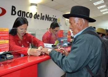 Banco de la Nación atiende pagos Midis-Pensión 65 este domingo