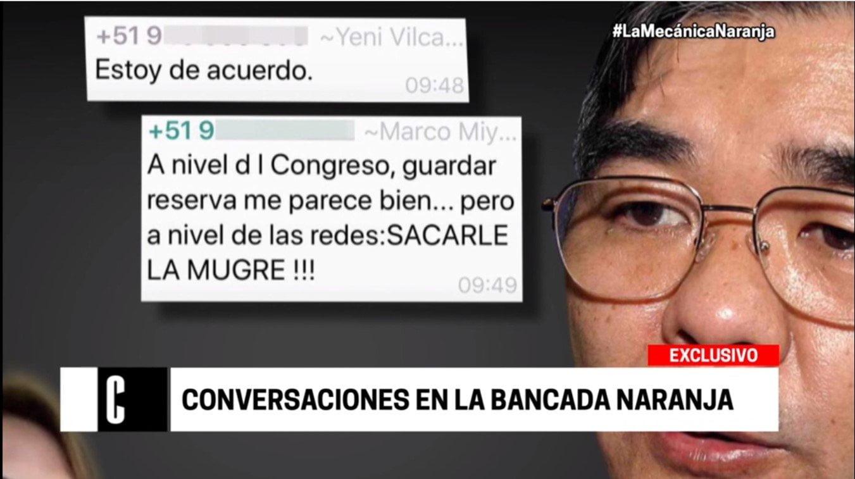 Fujimoristas pedían en chat 'sacarle la mugre' a opositores y periodistas