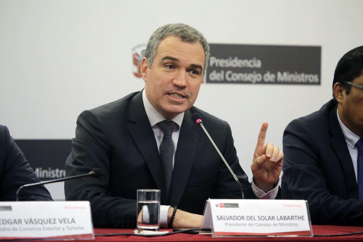 Salvador del Solar al Congreso: De manera conjunta adelantemos elecciones