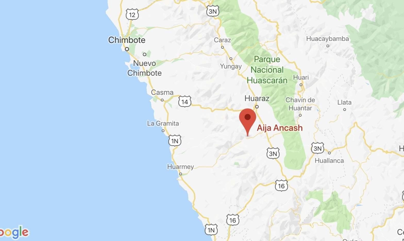 Sismo de magnitud 5.2 se registró en Ancash hoy martes 13 de agosto